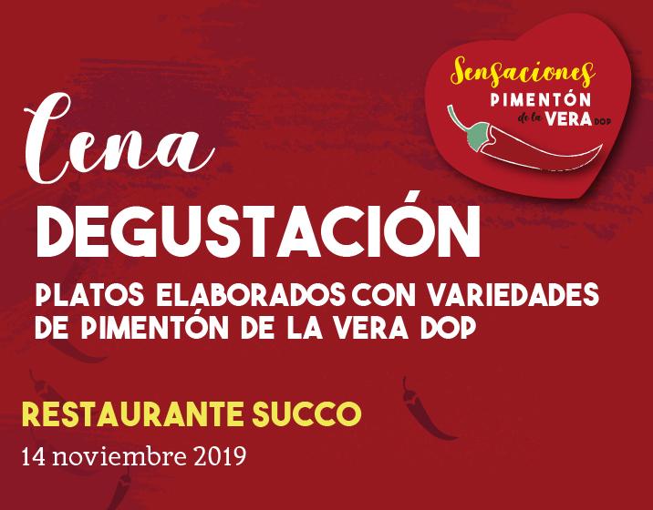 CENA DEGUSTACIÓN SUCCO 2019