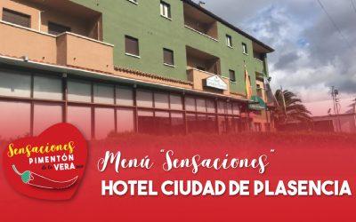 """Menú """"Sensaciones"""" en Hotel Ciudad de Plasencia 2020"""